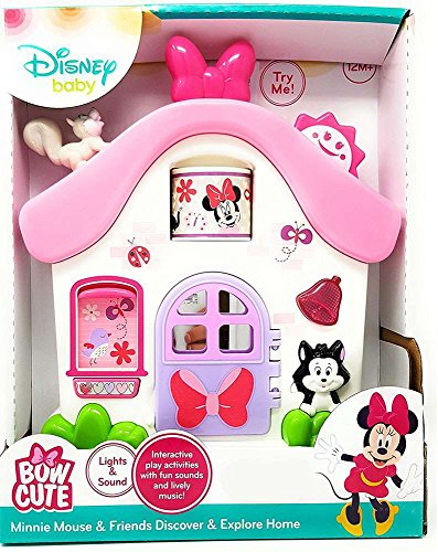 EXCLUSIVE Disney Baby - MINNIE MOUSE & FRIENDS DISCOVER & EXPLORE HOME - Lights and Sound, Lively Music - Exclusive Minnie Mouse
