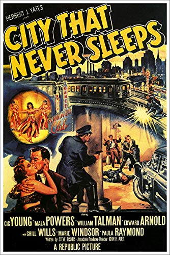 American Gift Services - City That Never Sleeps Vintage Movie Poster - 24x36