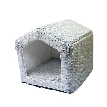 Cama perro Cuevas y casas plegables y portátiles para interiores / exteriores / Cama para la sala de la casa ...