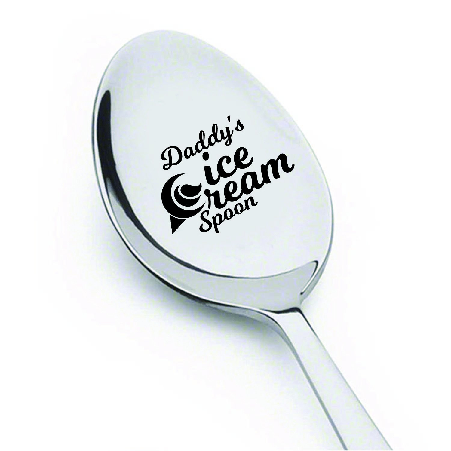 Dad gifts - Fathers Day Gifts - Gifts for men - Daddys Ice Cream Spoon - Best Selling item - Funny gifts - Birthday Gifts - Unique Gifts - Gifts for Dad - Gifts for Grandpa - Engraved Spoon - 7 Inches