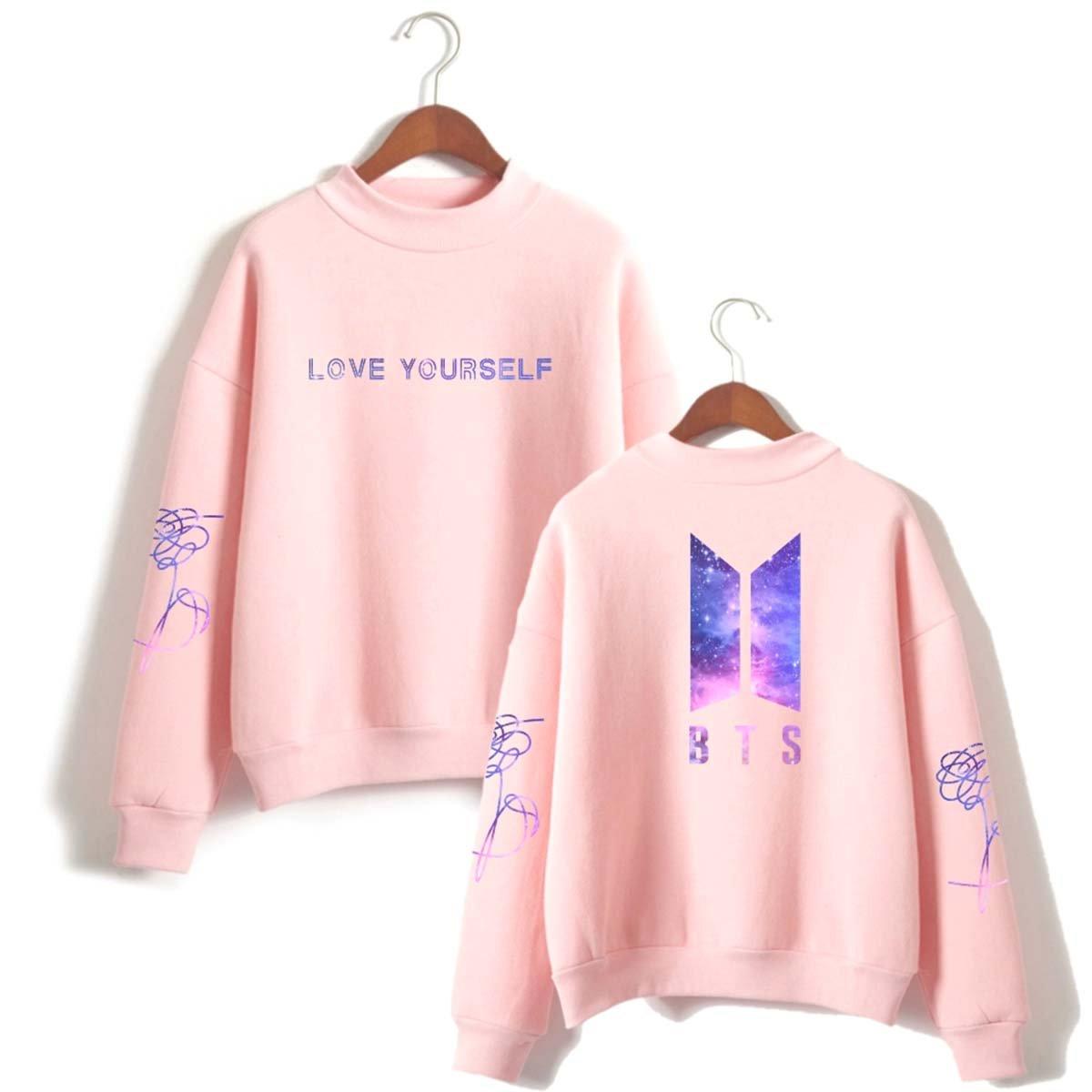 SIMYJOY Mujere BTS Fans Estrellado Sudaderas Love Yourself Niñas Cool Casual Linda Jersey Loose Fitting Top rojo 4XL: Amazon.es: Libros