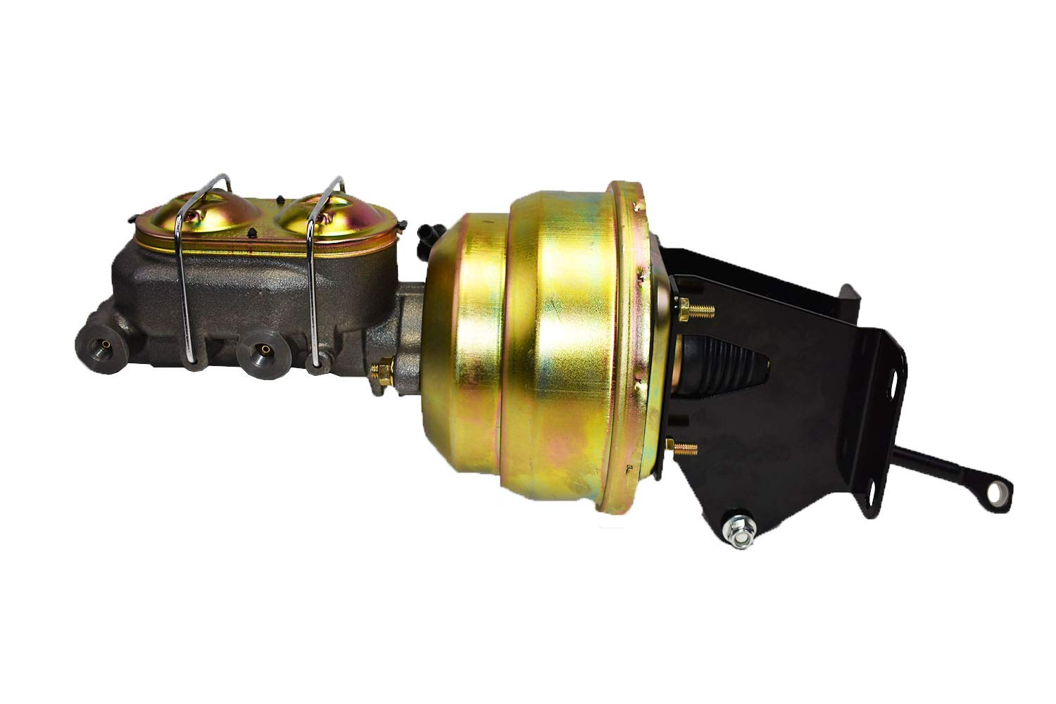 """A-Team Performance Dual Power Brake Booster Conversion Kit Compatible With 1974-1986 Jeep CJ7 & CJ5 8"""" Disc/Drum"""