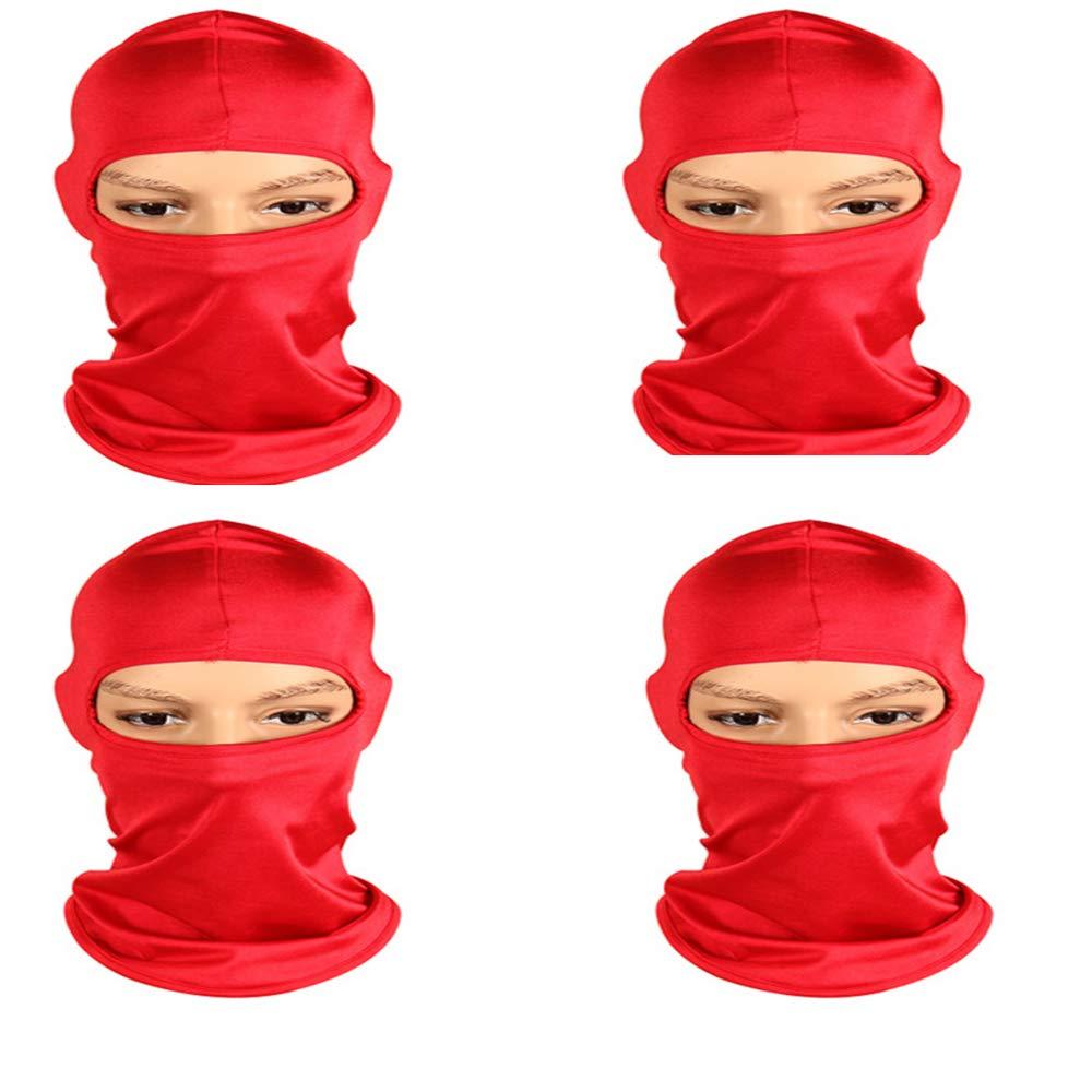 Red Balaclava Mask,Winter Ski Mask Fleece Warm Tactic Winter Outdoor Sports for Men, Women, Skiing, Cycling, Snowboarding (4 Pieces)