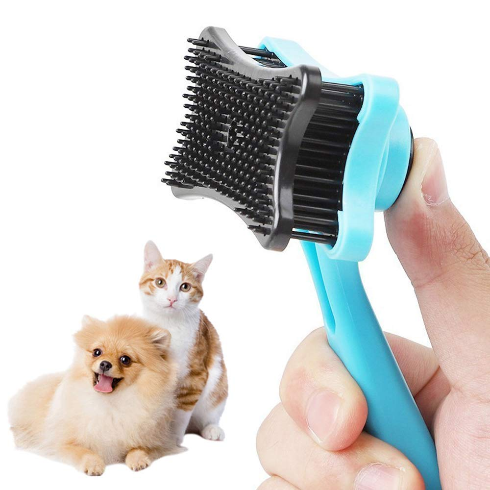 Pet Self Cleaning Slicker Brush- for Large to Small Dog or Cat with Short to Long Hair-Best Shedding Brush Helps Finishing[3pcs]