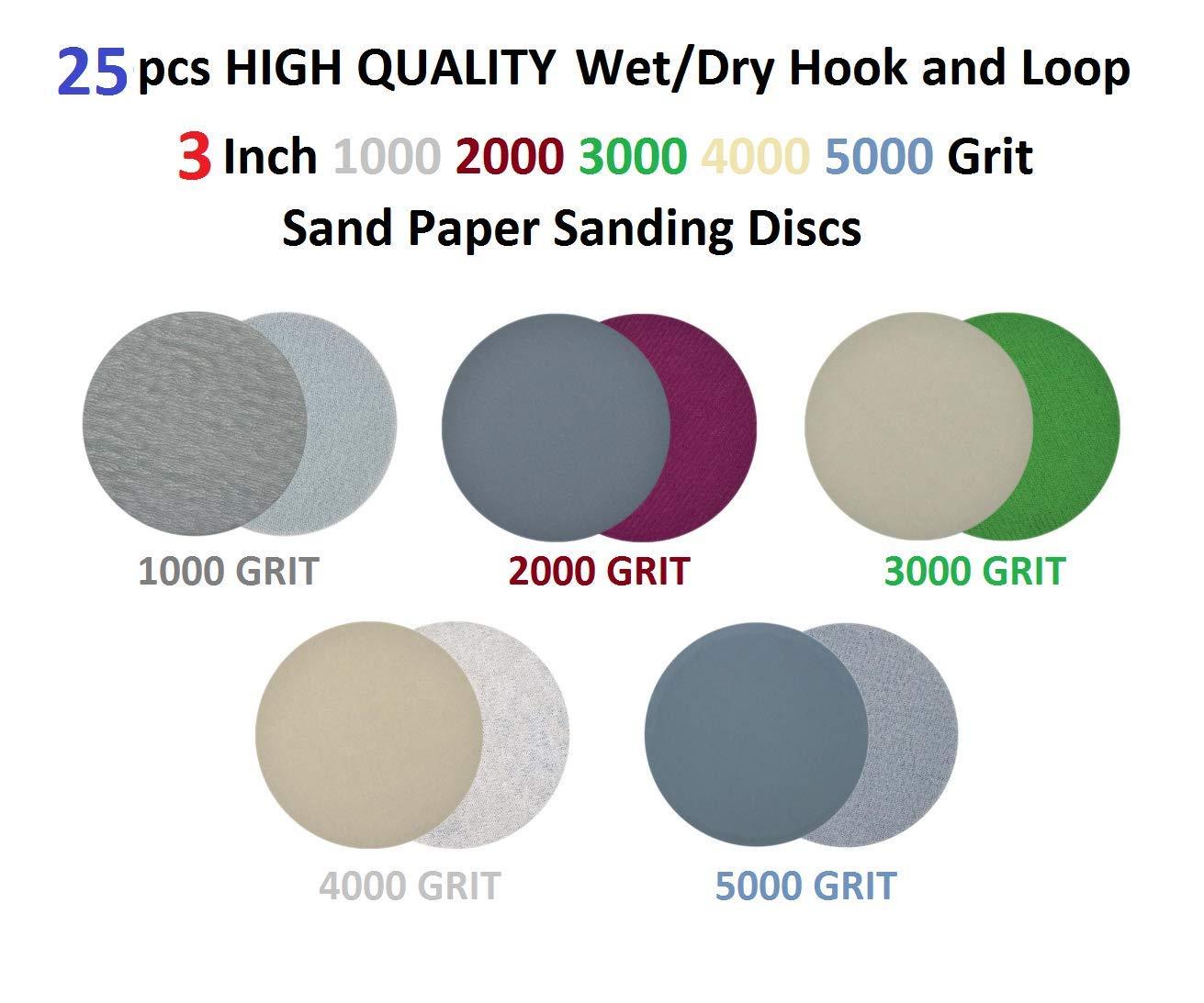 """100 Pack 3000 Grit 3/"""" Hook Finishing WET DRY SANDPAPER KEEN Abrasives #78529"""