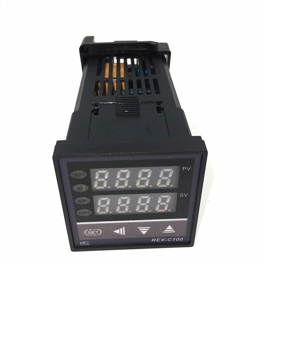 Controlador de temperatura digital REX-C100 + relé SSR 40A + ...