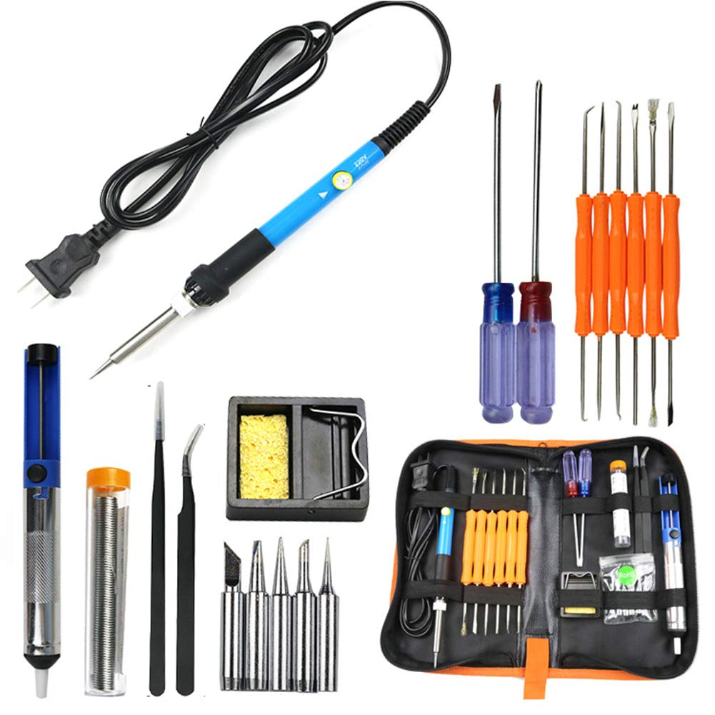 Ocamo 60W Electric Soldering Iron Tools Kit with Adjustable Temperature 806-220V [European Plug] Tool Kit by Ocamo (Image #2)