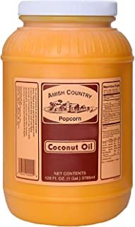 product image for Amish Country Popcorn | Coconut Oil - 1 Gallon | Old Fashioned with Recipe Guide (1 Gallon)