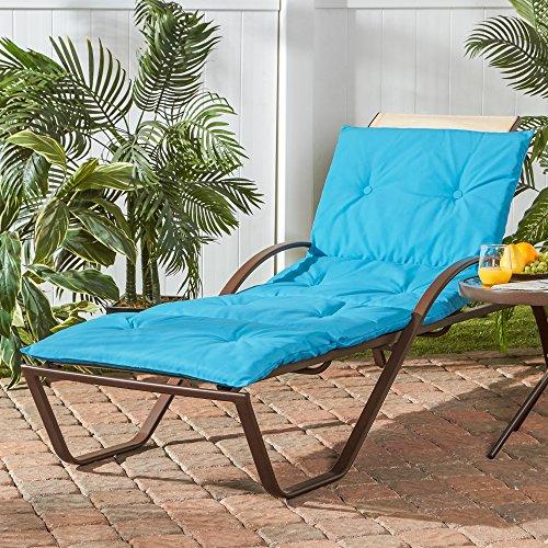 Greendale Home Fashions OC8665-TEAL Chaise Cushion, Teal