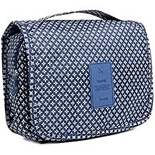 HaloVa Toiletry Bag Multifunction Cosmetic Bag Portable Makeup Pouch Waterproof Travel Hanging Organizer Bag for Women Girls, Dark Blue