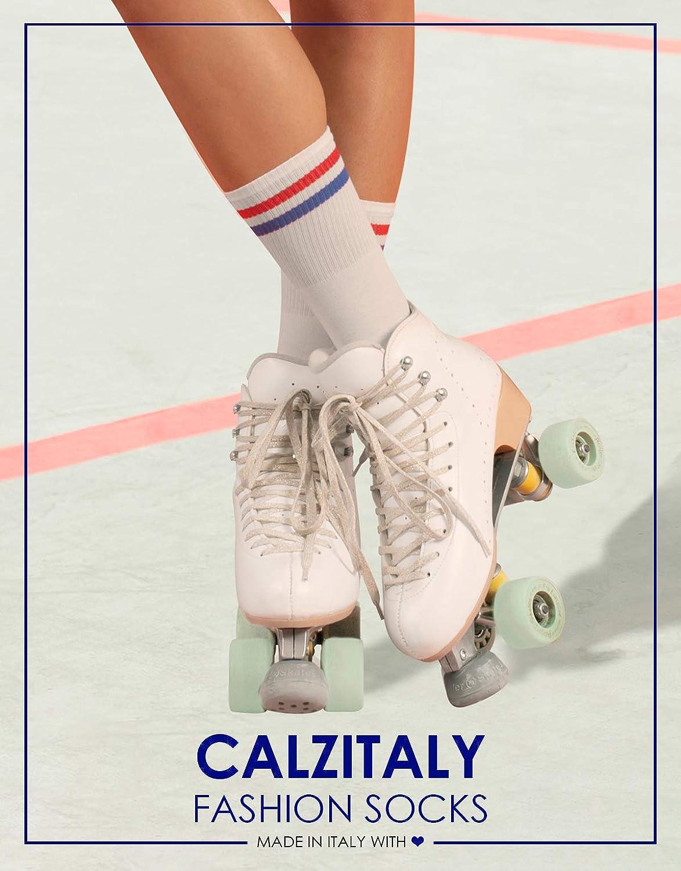 Blu Nero Grigio Calze Unisex Verde Calzini Cotone Righe CALZITALY 3 PAIA 35//38 Calze Sportive Stile Vintage 100/% Made in Italy   43//46 39//42 Bianco