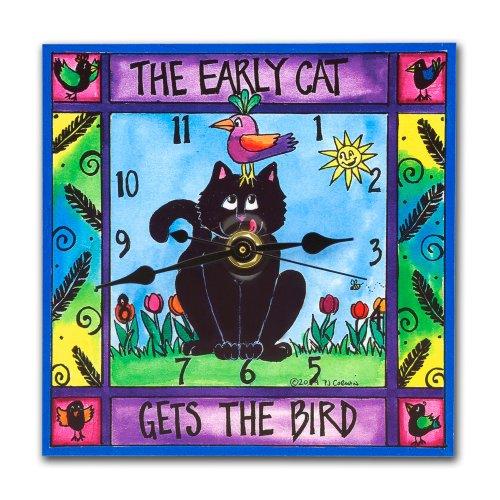 Early Cat Wall Clock