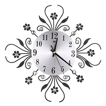 a25102e0a Buy Jokereader Vintage Metal Art Mute Wall Clock Crystal Large Wall Watch  Clock Home Showpiece Decor Office Suppler Online at Low Prices in India -  Amazon. ...