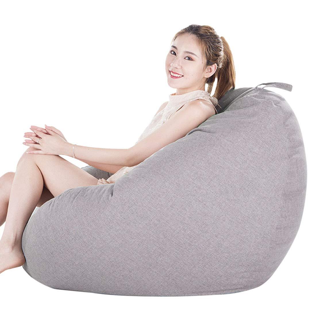 Xianheng Adult Bean Bag Memory Foam Beanbag Removable Cover Relaxing Sofa