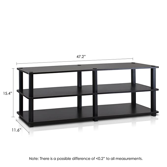 Amazon.com: Furinno TV14038EX/BK Turn S Tube No Tools 3 Tier Entertainment  TV Stands, Espresso/Black: Kitchen U0026 Dining