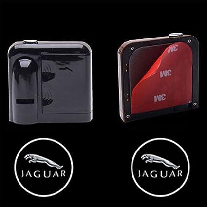 Bestmy For J AGUAR Logo - 2 luces LED inalámbricas para puerta de ...