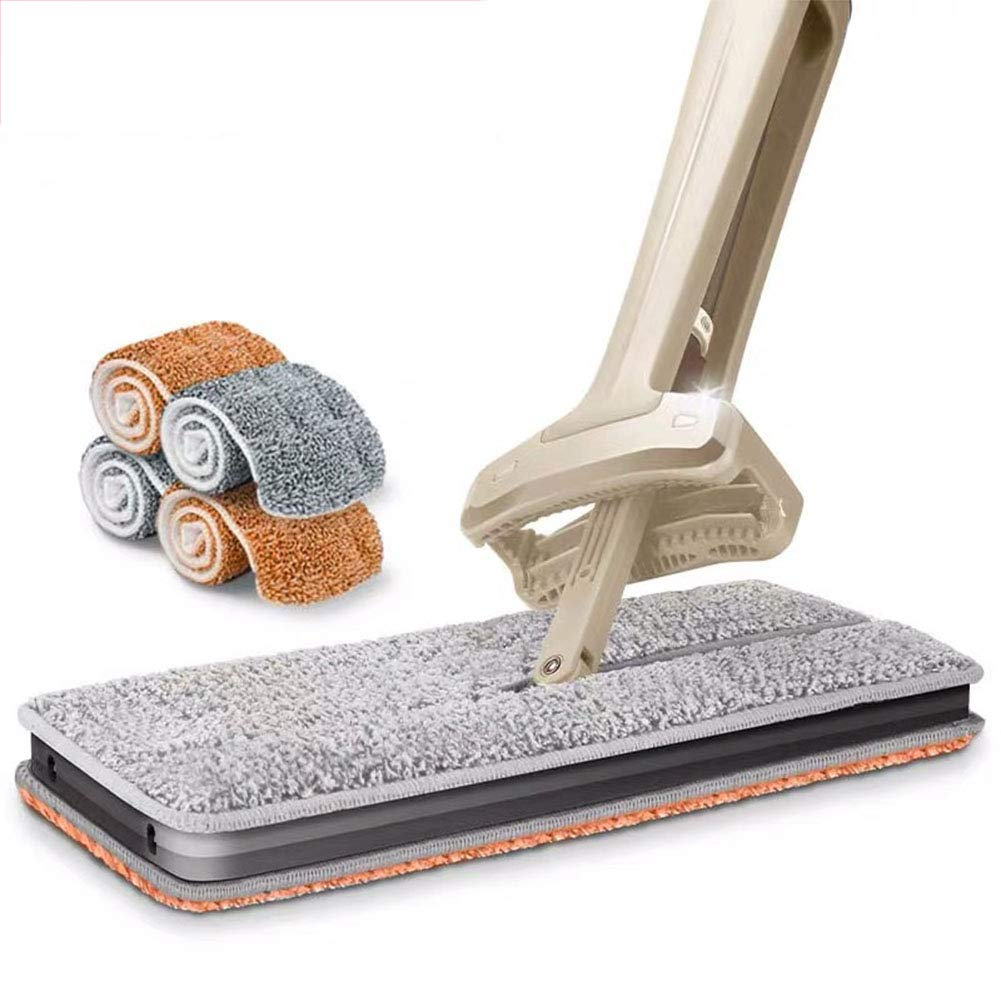ZLIJUN Cleaning Tool Double-Sided Lazy Hand-Free Washable Flat Rotatable Mop Dust Push by ZLIJUN