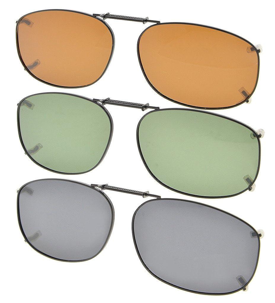 52ef7f62c15ef Eyekepper Gris Marrón G15 Lens 3-Pack clip-en gafas de sol polarizadas  54x37MM  Amazon.es  Ropa y accesorios