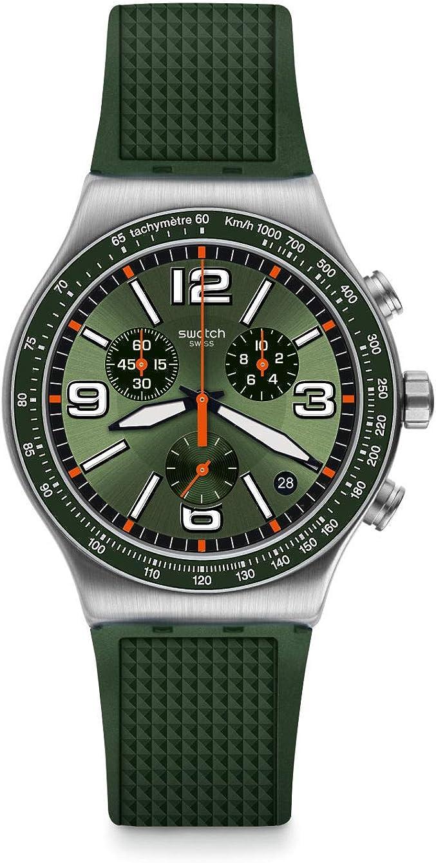 Swatch Reloj Analógico para Hombre de Cuarzo con Correa en Caucho YVS462