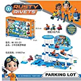 Panamat Action & Toy Figures - Russia 3.5inch Doll with 4pcs/lot Car Rusty Characters Action Figure Freddy Toys Boy Gift Rusty Rivets Cartoon Model 1 PCs