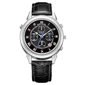North King Cuarzo Relojes Fecha Pantalla Hombres Deportes Reloj Moda Multi función Cronógrafo Relojes Bonitos para Regalo de cumpleaños de Adultos: ...