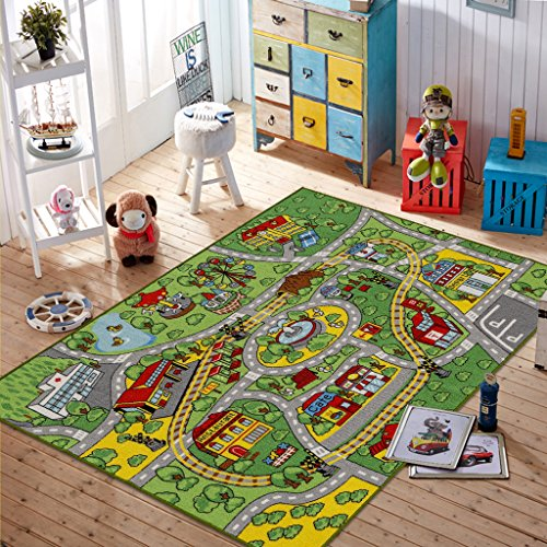 JACKSON Large Kid Rug For Toy Cars,Safe And Fun Car Rug