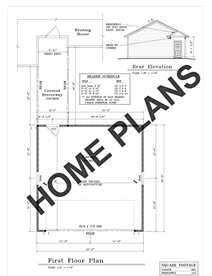 Amazon Com Sq Ft Unht 599 Plan I 1761 Homehouse Architectural