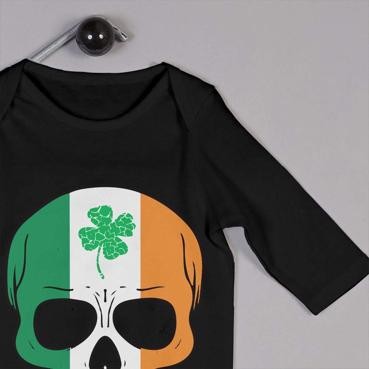 Patricks Day Kid Pajamas TYLER DEAN Baby Boy Girl Jumpsuit Irish Skull St