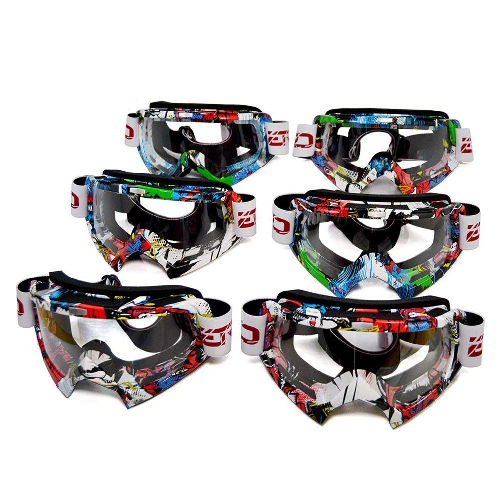 ColorJoy Motocross MX ATV Dirt Bike Gafas de cross country Eye Wear con Colorful/Clear Lens for Outdoor Sport Esquí de esquí Nieve Skate Escalada Camping ...
