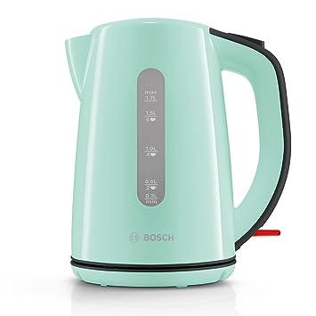 Bosch twk7502 Hervidor de agua inalámbrico, 2200 W, Mint turquesa/negro de gris