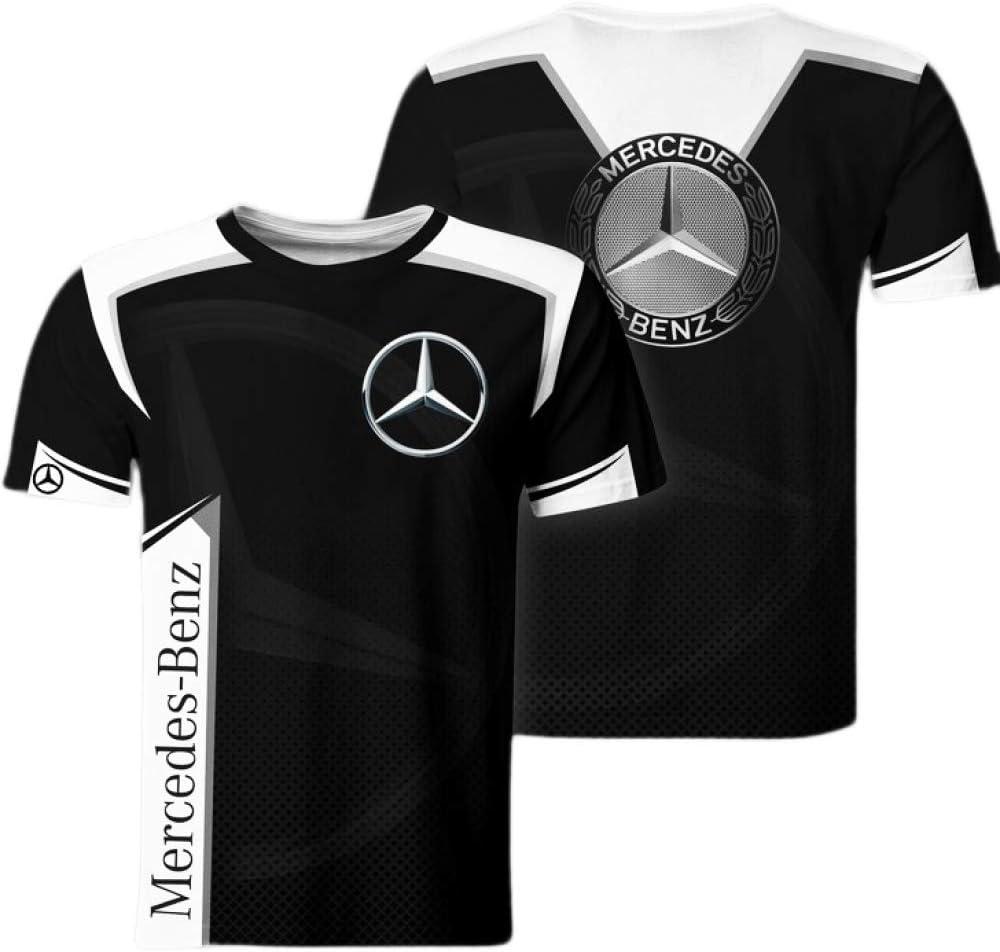 xiaoxian Magliette Lunga//Corta Manica per Mercedes-Benz 3D Stampa Unisex T-Shirts Fans Uomo Adolescenti Camicie Leisure A1 2XL