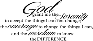 Empresal God Grant Serenity Prayer Vinyl Wall Decal Quotes Wall Stickers Religious Decals Home Decor Decals