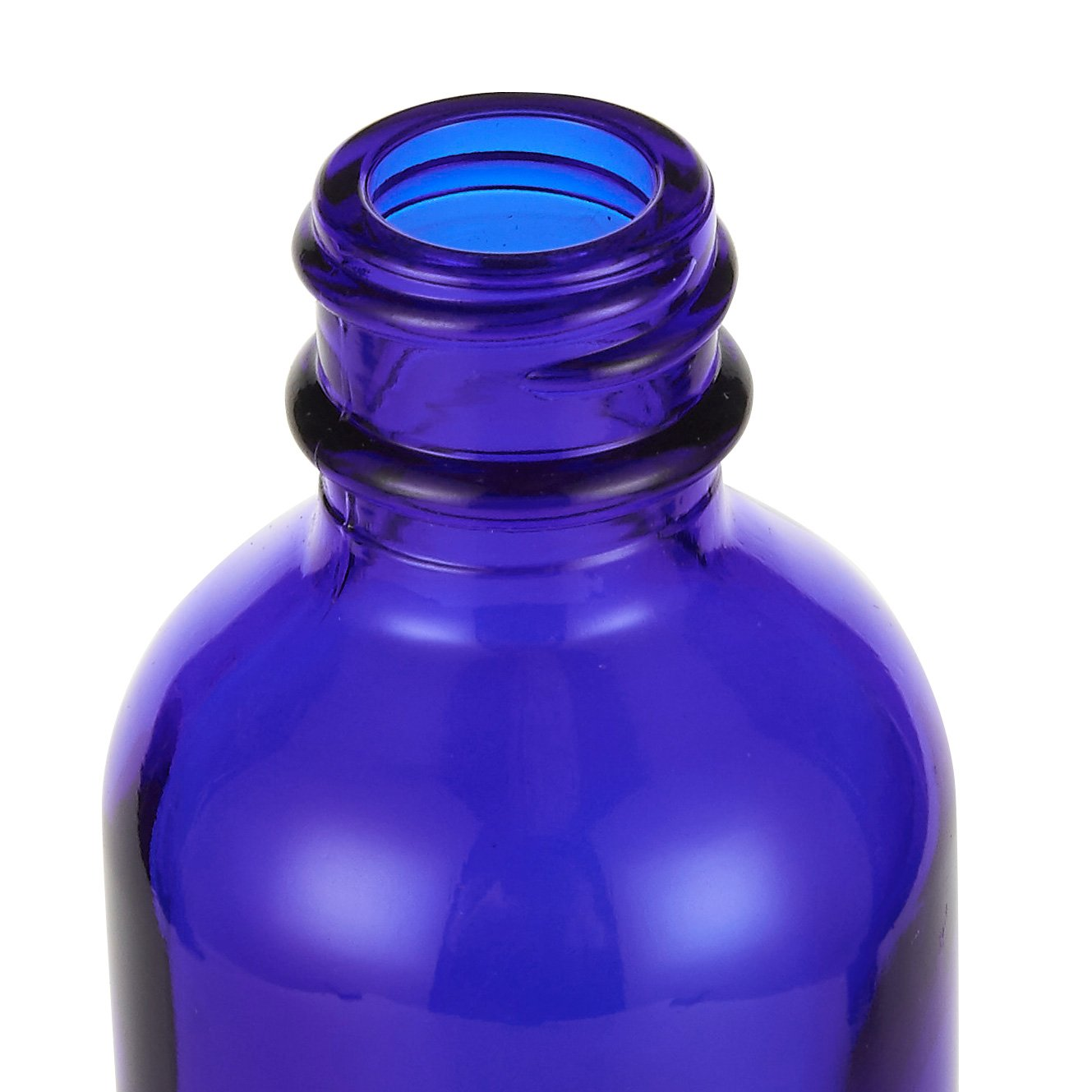 Misting Spray Glass Bottle - 12-Pack Fine Mist Bottles with Atomizer Pumps Sprayer and Cap - Refillable and Reusable Empty Glass Bottles for Essential Oils, Perfumes, Cleaners, Travel - Blue, 2 oz by Juvale (Image #3)