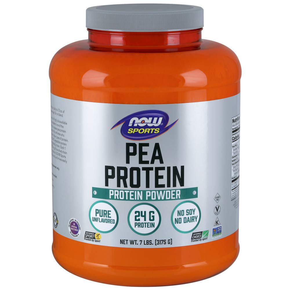 NOW Sports Nutrition, Pea Protein Powder, Unflavored, 7-Pound by Now Sports