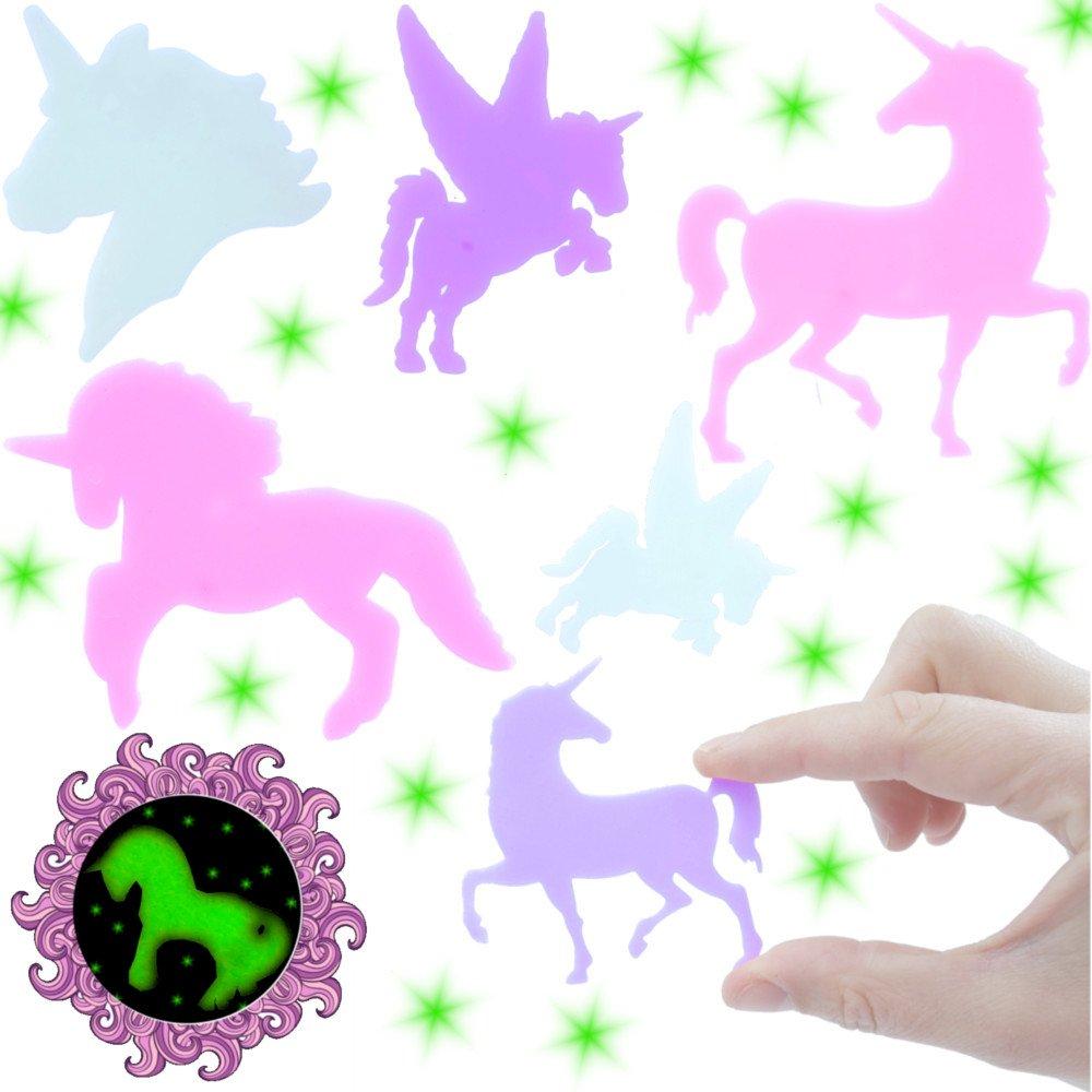 German Trendseller - 12 x Unicornios Adhesivas Pared┃para dormitorios Infantiles┃ noctiluscentes┃ Fiestas Infantiles┃ Idea de Regalo┃piñata┃cumpleaños ...