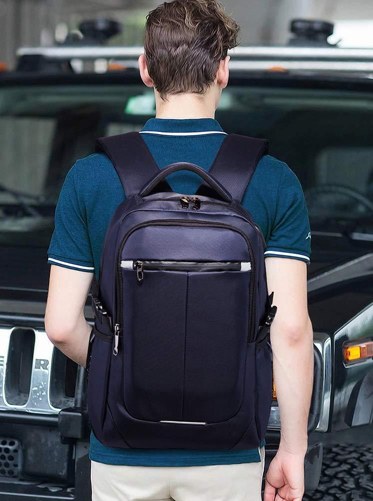 Zaino Per PC Portatile Uomo Impermeabile con con con Porta USB Laptop da università Multifunzionale Lavoro Viaggio Affari (Coloreee   Blu, Dimensioni   One Dimensione) | Numeroso Nella Varietà  | prezzo di vendita  | Grande Vendita Di Liquidazione  1f506c