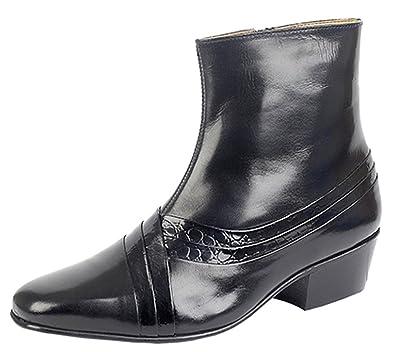 U.Buy , Herren Durchgängies Plateau Sandalen mit Keilabsatz , Schwarz - schwarz - Größe: 45