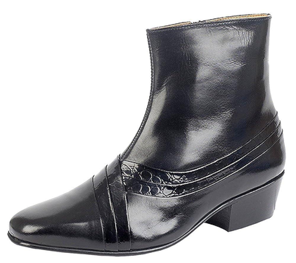 d54d7204119b Montecatini Mens Cuban Heel Inside Zip Leather Ankle Boots UK sizes ...
