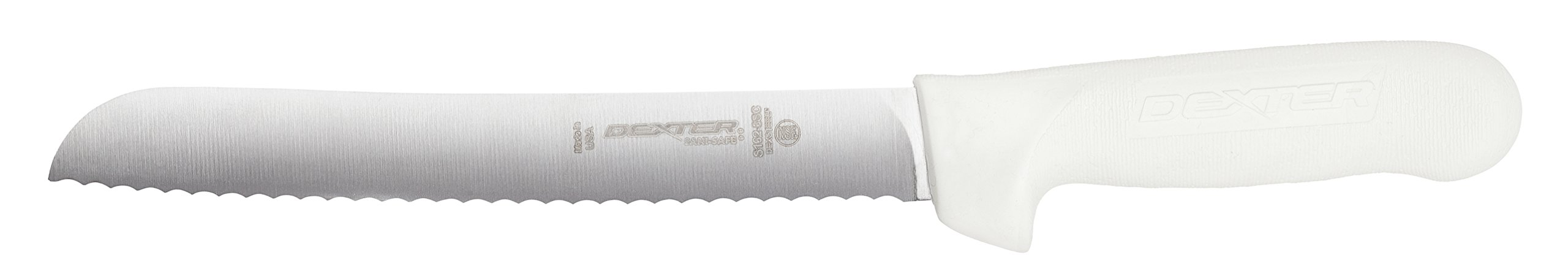 Dexter-Russell Sani-Safe Scalloped Bread Knife, Carbon Steel Blade, 8-Inch