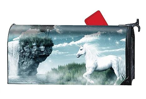 d5b21bf5dd2c Amazon.com  Verna Christopher White Angle Horse Magnetic Mailbox ...