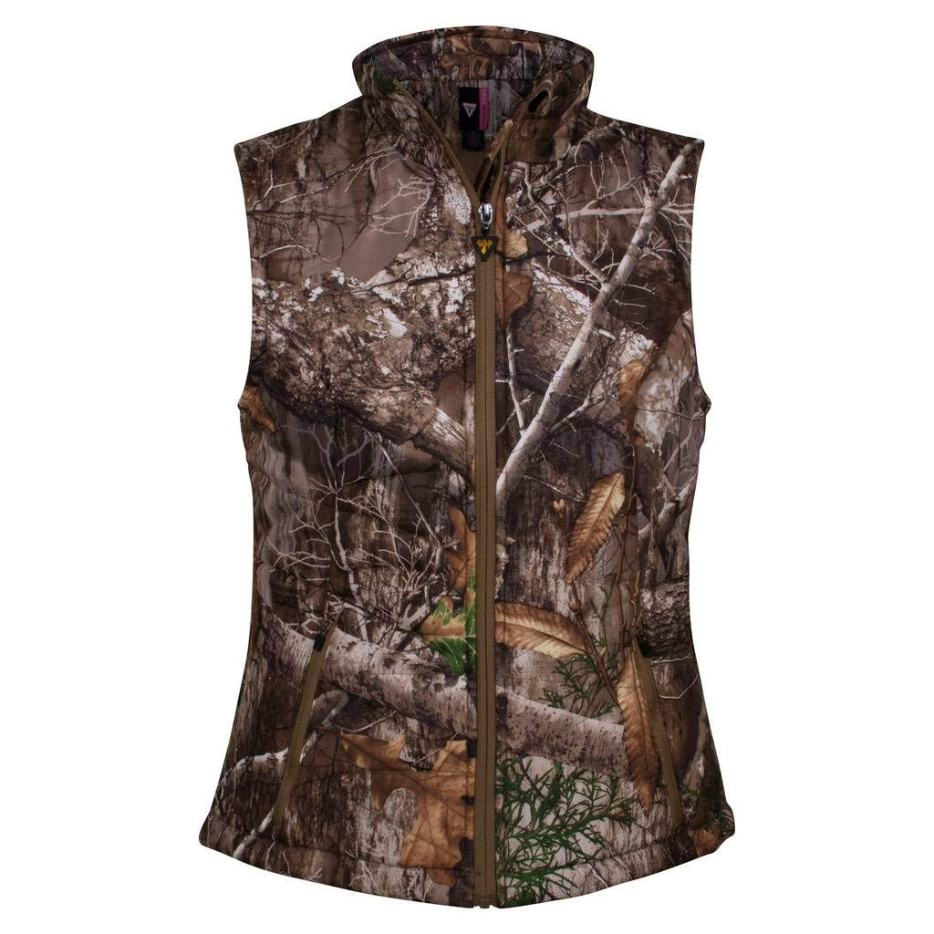King's Camo Women's Hunter Loft Vest, Realtree Edge, Large by King's Camo