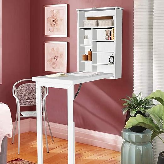 Ustyle Mesa de Escritorio Convertible Plegable de Pared, Color ...