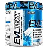Evlution Nutrition Testosterone Booster EVL Test Training & Recovery Amplifier* Supports Natural Testosterone Levels, Muscular Strength, Stamina & Optimal Sleep (30 Serving Blue Raz Powder)