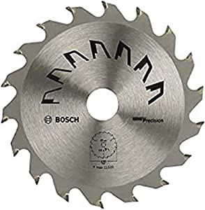 Bosch 2609256852 Precision Circular Saw Blade with 18 Teeth/Carbide / 150 mm Diameter / 20/16 mm Bore/Reduction Ring / 2.5 mm Cutting Width
