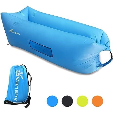 Amazoncom Vansky Inflatable Lounger Hangout Sofa Chair Hammock