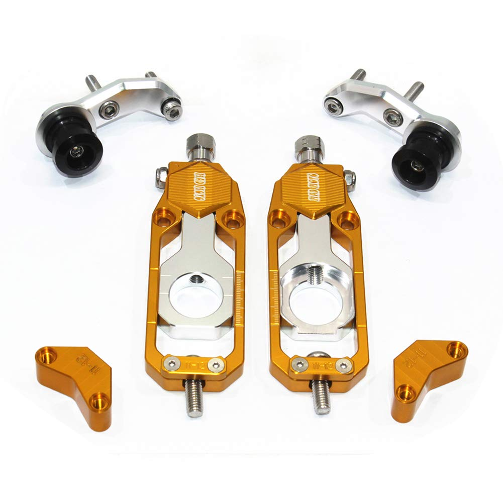 Motorcycle Chain Tensioner Adjuster with Spool YAMAHA YZF R1 2006, Gold