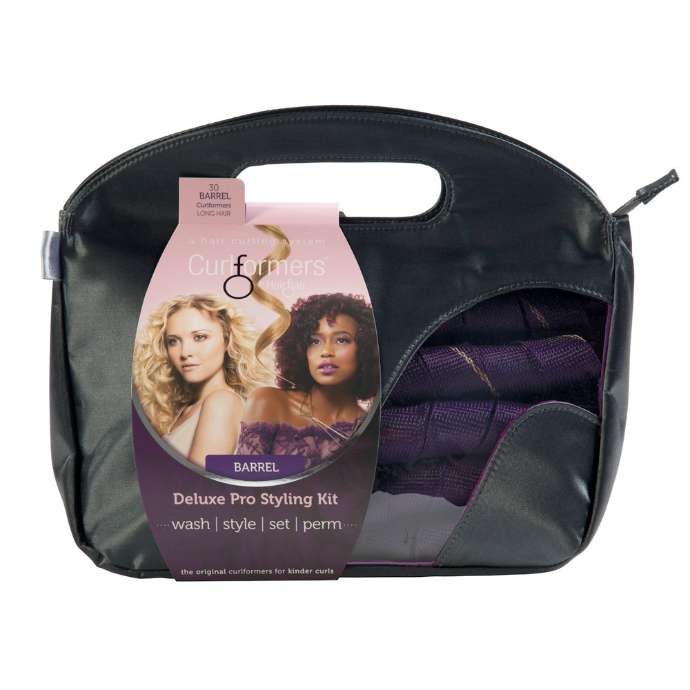 Curlformers Deluxe Range Styling Kit Barrel Curls for Extra Long Hair Hair Flair