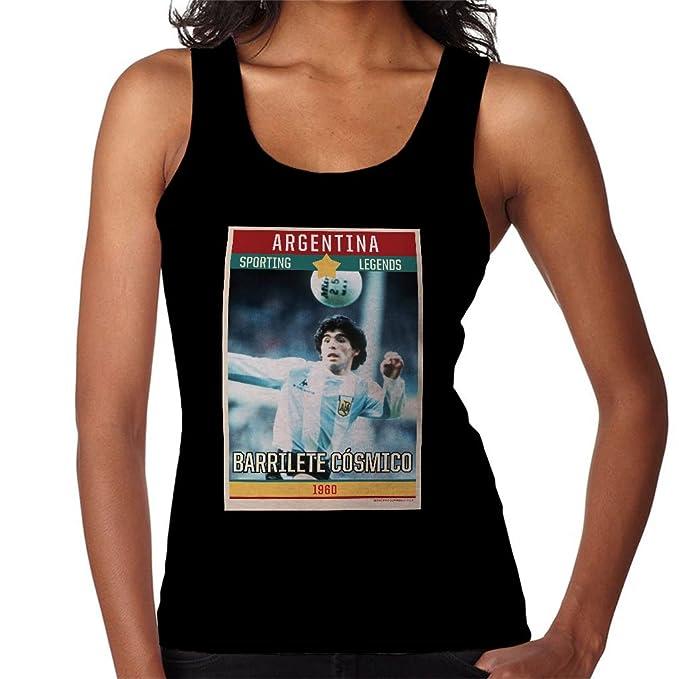 Sporting Legends Poster Argentina Diego Maradona World Cup 1960 Womens Vest
