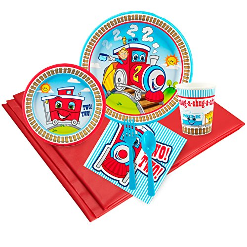 2nd Birthday Train Party Supplies - Party Pack for 8]()