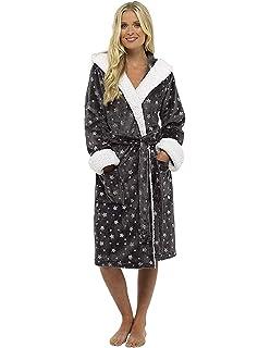 Ladies Dressing Gown Shaggy Soft Fleece Women Gowns Robe Bathrobe  Loungewear for her 016ae3bc9